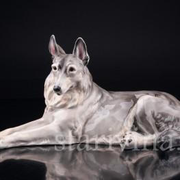 Статуэтка собаки из фарфора Овчарка, Von Schierholz, Германия, 1930 гг.